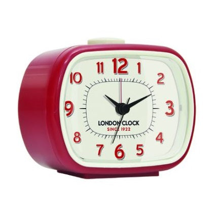 Geo Alarm Clock Red