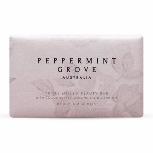 Peppermint Grove Red Plum & Rose Beauty Bar 200g