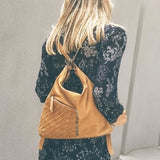 Simone Convertible Backpack Camel