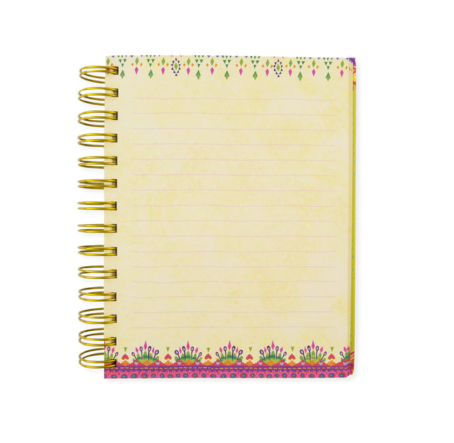 Intrinsic Kaleidoscope Tribe Spiral Notebook