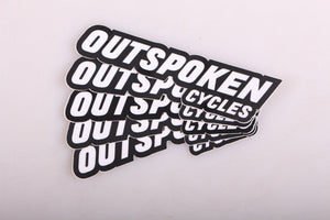 Outspoken Cycles Sticker - 5 Pack