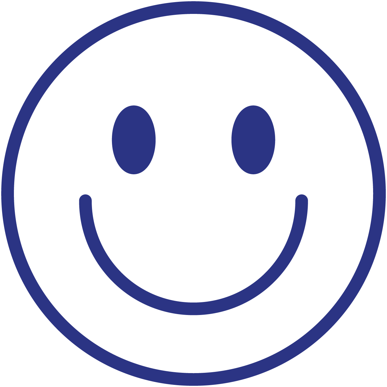 A smiley face which represents how fun shopping can be