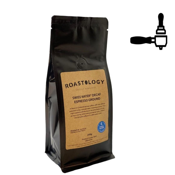 Roastology Swiss Water Decaff Espresso Ground Coffee x 250g