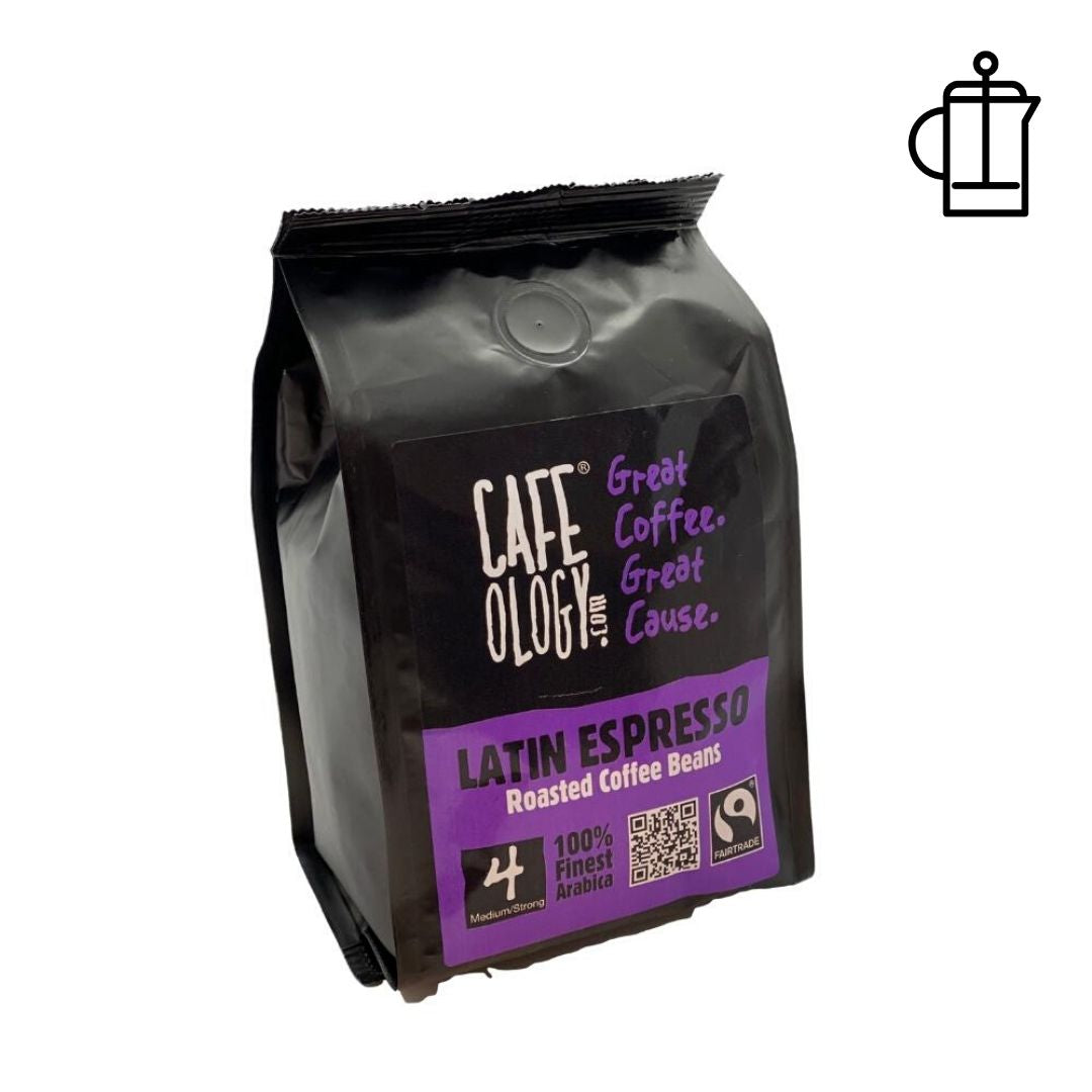 An image of Cafeology Fairtrade Latin Espresso Coffee Beans 227g