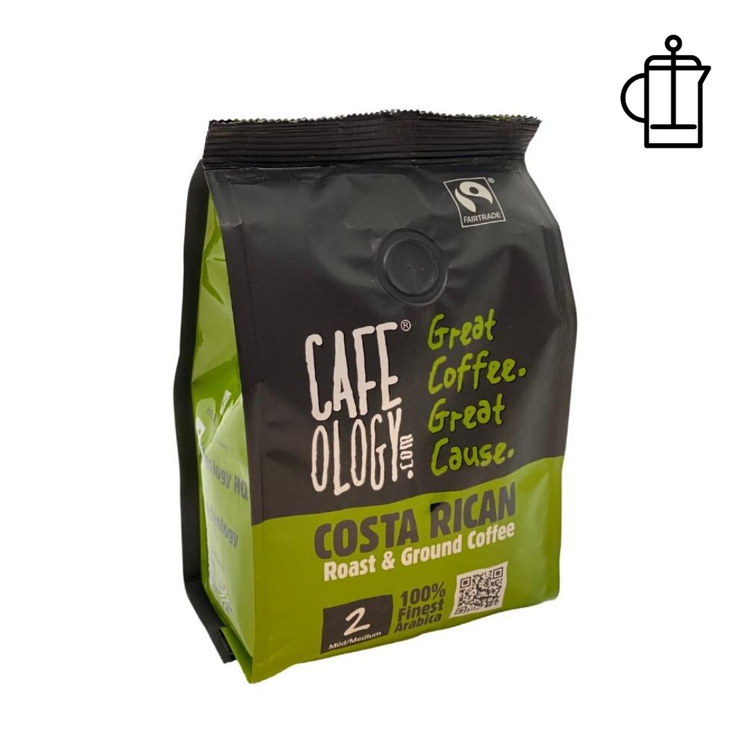 An image of Cafeology Fairtrade Costa Rican Fresh Ground Coffee 227g