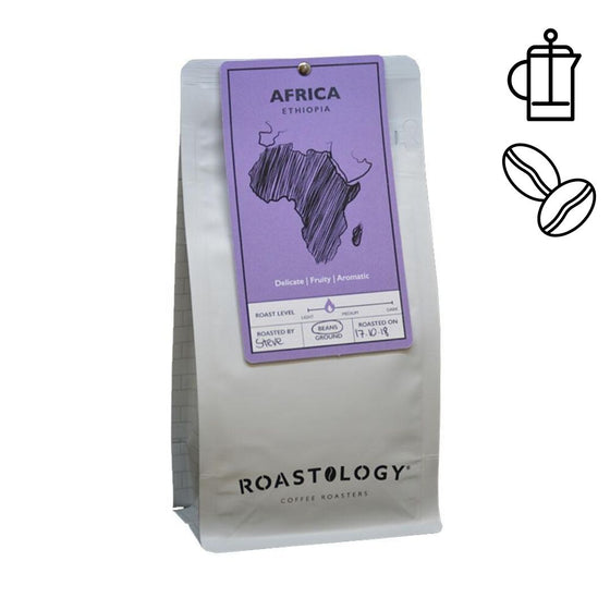 Roastology African 250g or 1kg bag of Ground or Roasted Coffee