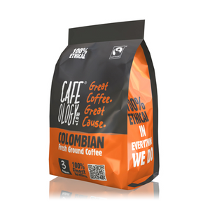 Colombian Fresh Ground Coffee Bag 227g. Fairtrade Logo