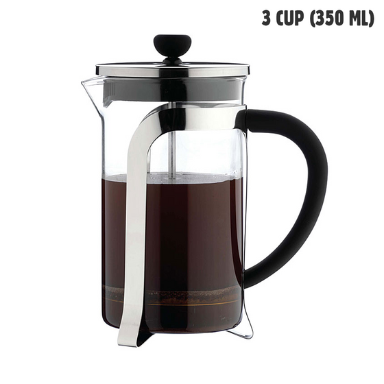 Café Olé 3 Cup Glass Cafetiere (350 ml)