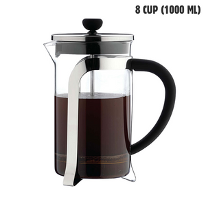 Café Olé 8 Cup Glass Cafetiere (1000 ml)
