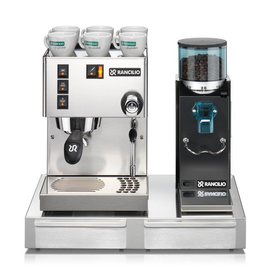 New Rancilio Silvia E 2018 Model Traditional Coffee Machine Package (Inc Grinder, Knock Out Drawer & Coffee)