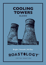 Roastology Cooling Towers Coffee Card Logo - Bright, Smooth, All Day