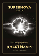 Roastology Supernova Coffee Card Logo - Rich, Indulgent, Warming
