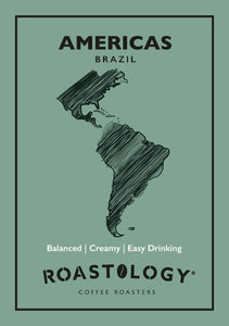 Roastology Branded Americas Brazilian Coffee Card