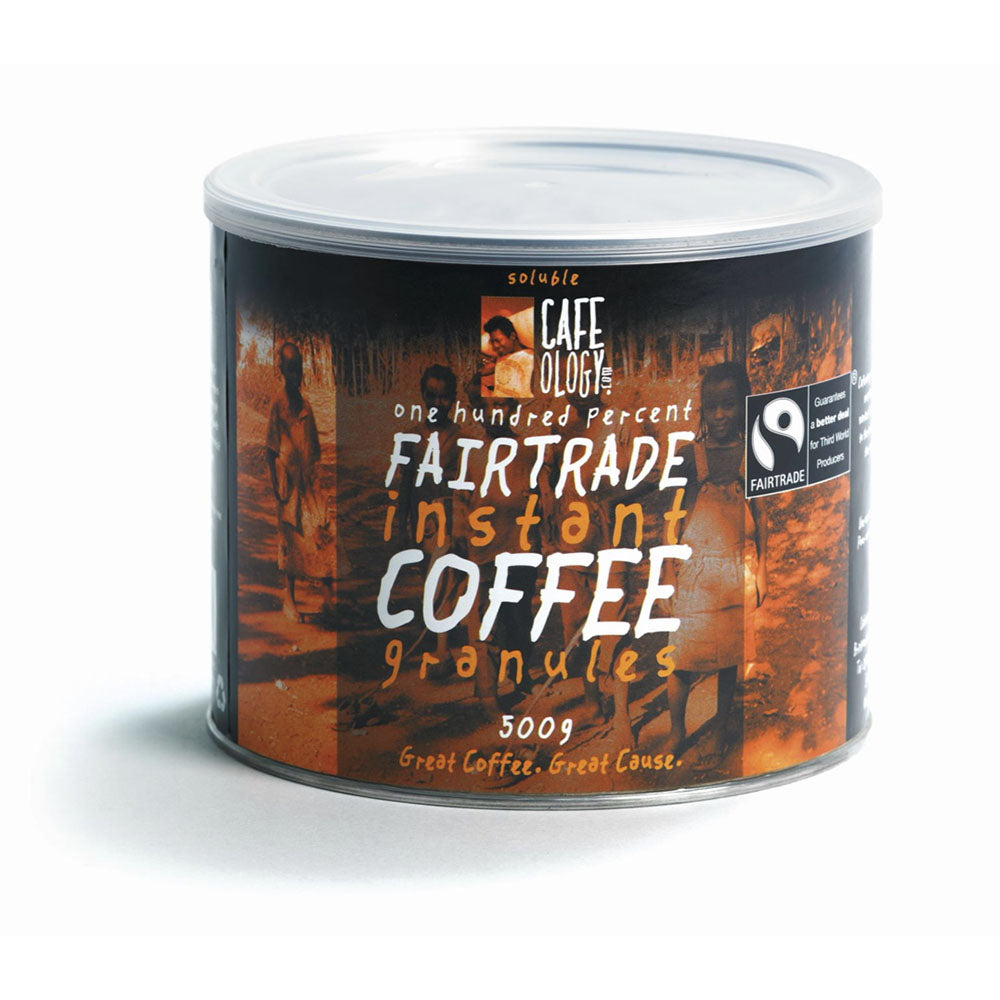 An image of Cafeology Fairtrade Instant Coffee Granules x 500g