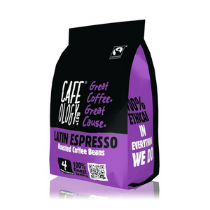 Cafeology Fairtrade Latin Espresso Coffee Beans 227g