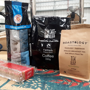 Cafeology Essentials - Tea, Coffee, Milk & Biscuits Pack