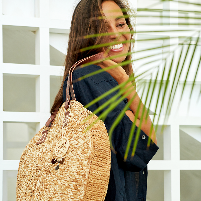 Vary Oversized Sustainable Raffia Tote Bag
