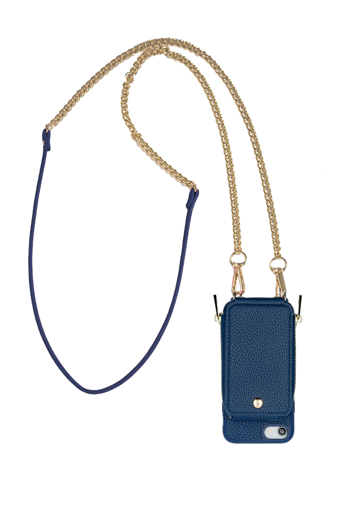 Chain Strap Navy TREK™ iPhone 6 / 7 / 8 - TREK™ | Cross-body Phone Case Purses