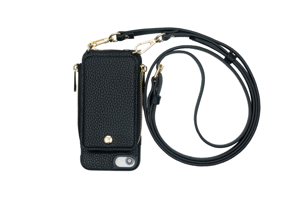 Black Crossbody TREK™ for iPhone 6/7/8 - TREK™ | Cross-body Phone Case Purses