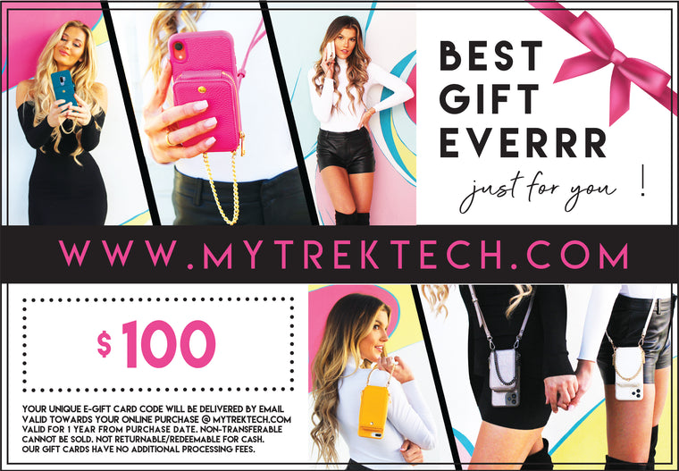 $100 TREK E-Gift Card - TREK™ | Cross-body Phone Case Purses