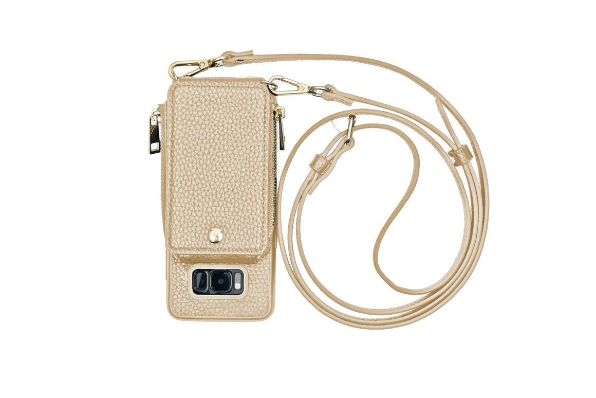Gold Crossbody TREK™ for Galaxy S8 - TREK™ | Cross-body Phone Case Purses