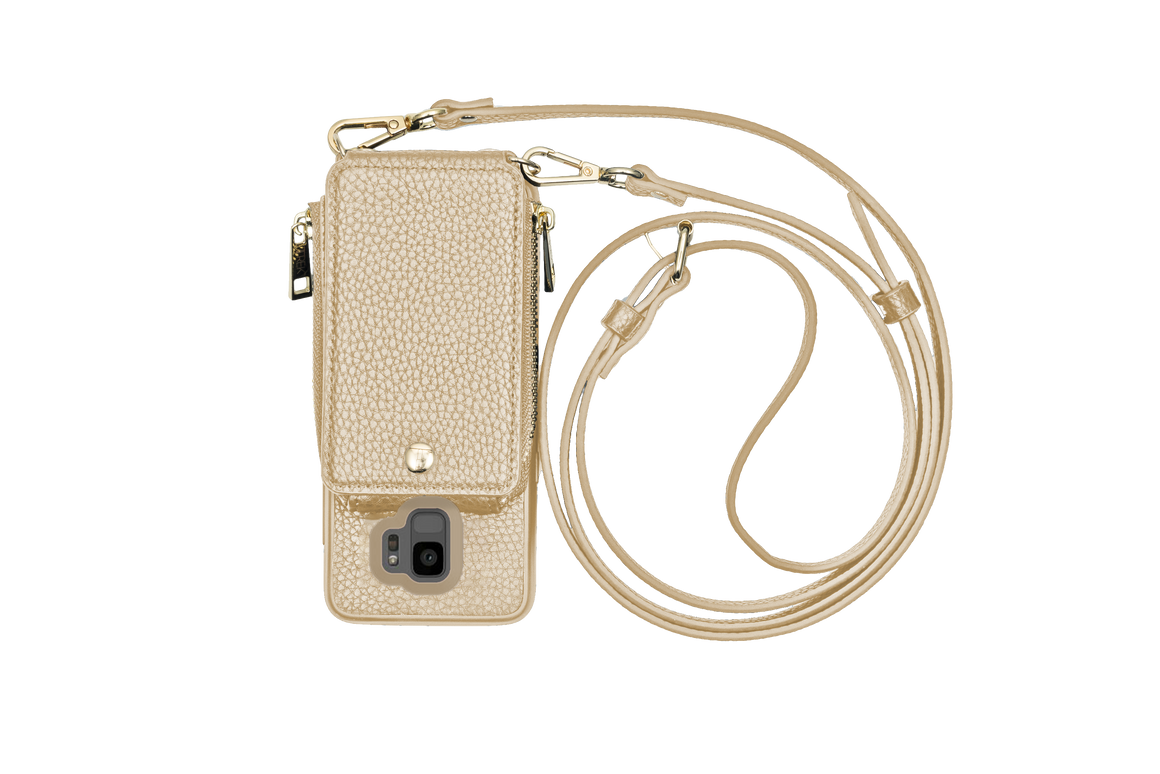 Gold Crossbody TREK™ for Galaxy S9 - TREK™ | Cross-body Phone Case Purses