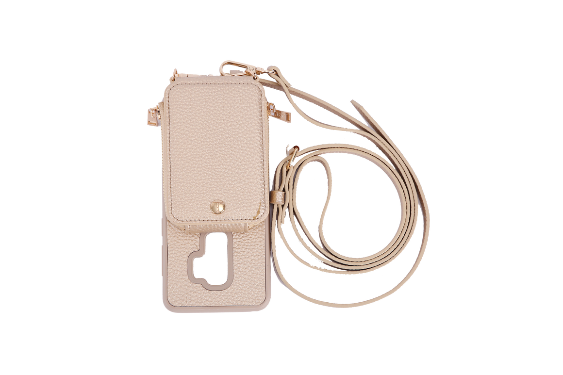Gold Crossbody TREK for Galaxy S9+ - TREK™ | Cross-body Phone Case Purses