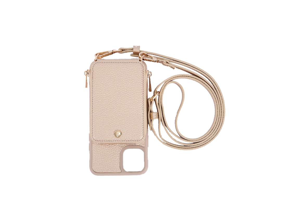 Gold Crossbody TREK for iPhone 11 Pro - TREK™ | Cross-body Phone Case Purses