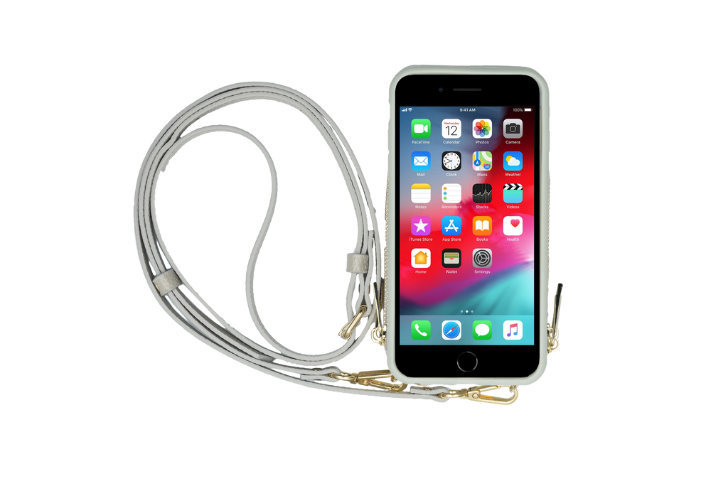 Gray Crossbody TREK for iPhone 11 Pro - TREK™ | Cross-body Phone Case Purses
