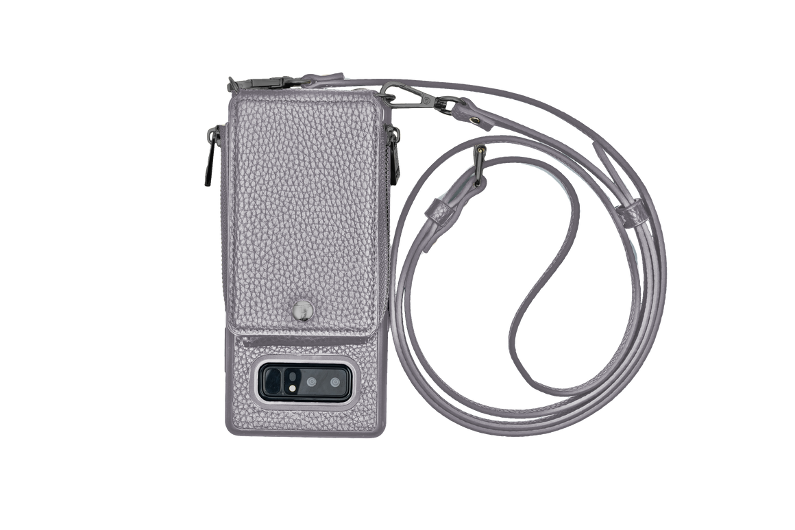 Gunmetal Crossbody TREK™ for Note 8 - TREK™ | Cross-body Phone Case Purses