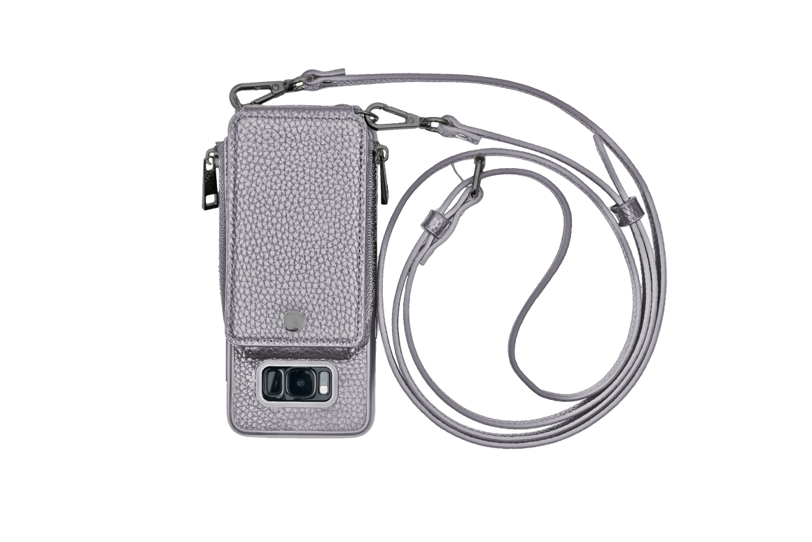 Gunmetal Crossbody TREK™ for Galaxy S8 - TREK™ | Cross-body Phone Case Purses