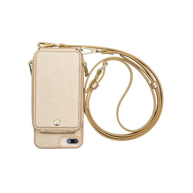 Gold Crossbody TREK™ Compatible with iPhone 6+/7+/8+ 1