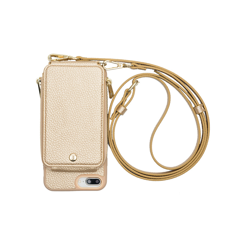 Gold Crossbody TREK™ Compatible with iPhone 6+/7+/8+ - TREK™ tech accessories