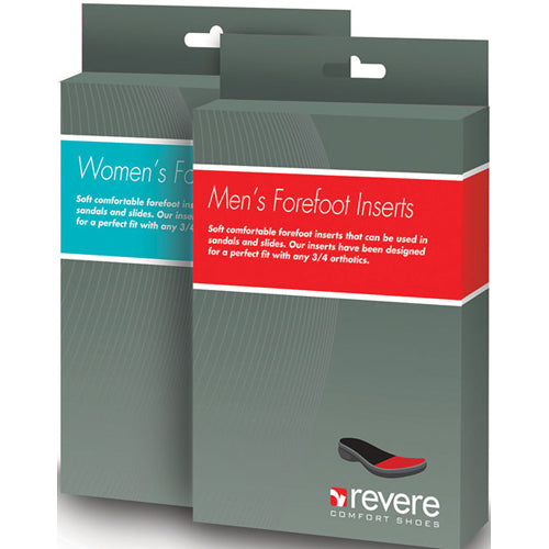 Revere Mens Forefoot Inserts for 3/4 Orthotics