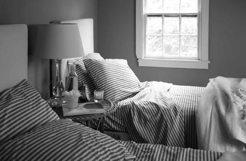 tricia foley striped twin beds