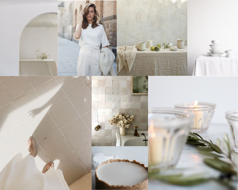 fete en blanc mood board