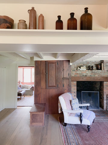 vintage bottles in new hampshire house