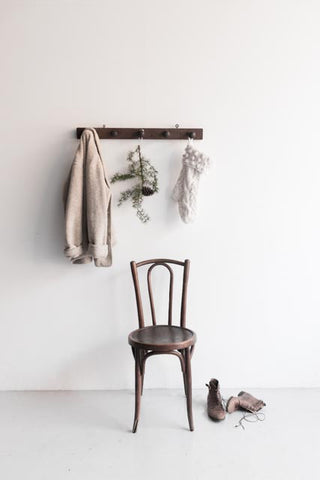 holiday entry chair with coat rack