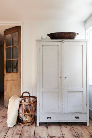 painted white armoire