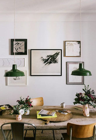 emerald green in your home