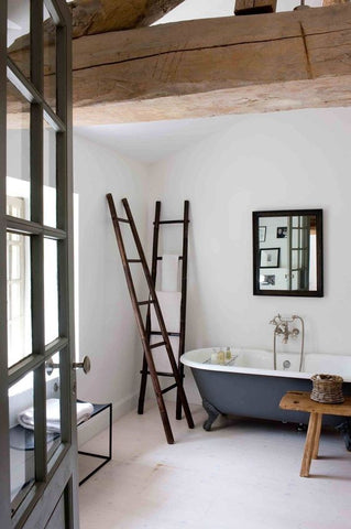ladder in the bathroom