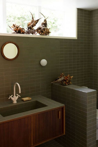 green bathroom for your home