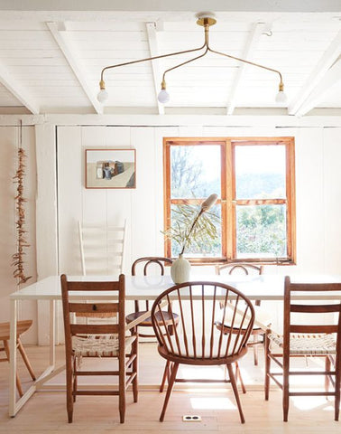 mix matched dining chairs