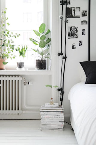 styling books in your bedroom
