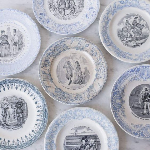 vintage french transferware plate