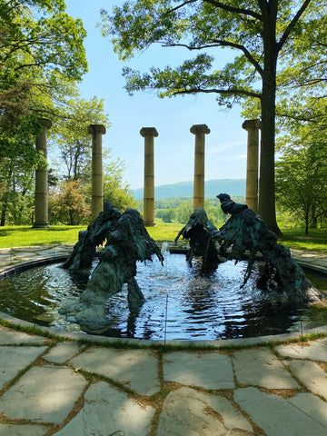 fountain and columns at storm king