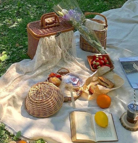 fruit and baskets summer picnic