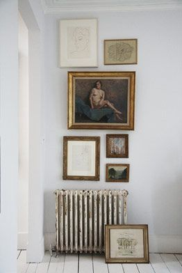vintage paintings on wall