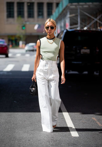 white trousers new york street style