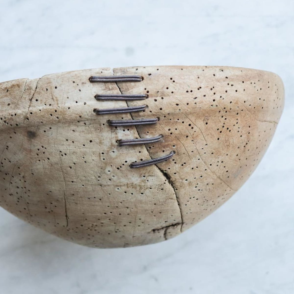 Antique Mended Wood Bowl - the french kitchen